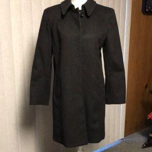 Liz Claiborne Petite 100% Wool Coat Black EUC